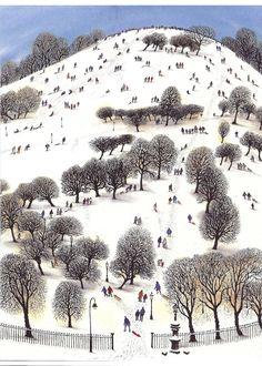 David Gentleman Primrose Hill Watercolour 2009