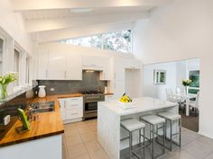 Ceiling skylight in a kitchen design from an Australian home - Kitchen Photo…