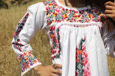 Detailed Oaxacan Hand Embroidery