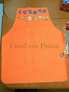 Crea2 Con Pasión: Goma eva, Aprendiendo de Todo un Poco Sharpie, Apron, Aprons, Jelly Beans, Short Stories, Permanent Marker