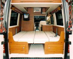 Sportsmobile offers 50 camper van plans or will customize to meet your camping/travel needs, since Two and four wheel drives, gas and diesel vans. Second home/second car. Ford Transit Custom Camper, Ford Transit Campervan, Campervan Bed, Custom Camper Vans, Campervan Interior, Utility Trailer Camper, Car Camper, Sprinter Camper Conversion, Camper Van Conversion Diy