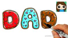 How to Draw Donuts for Dad Easy