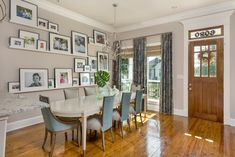 Arianne Bellizaire Interiors transformed a client's empty house into a warm, inviting, colorful oasis. Dining Decor, Dining Room Design, New Orleans Homes, New Homes, Interior Design Photography, Inspirational Wall Art, Create Space, Design Firms, Wall Colors