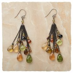 I found the Mixed Greens Earrings at ArhausJewels.com. $238.00 #arhausjewels earrings.