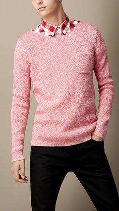 Burberry Brit Cotton Linen Mouline Sweater