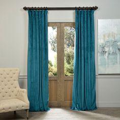 Exclusive Fabrics Signature Velvet 96-inch Blackout Curtain Panel