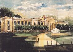 Portfolio of watercolor paintings of St. Louis parks by Marilynne Bradley
