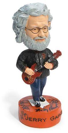 The Jerry Garcia bobblehead signed by Bob Weir, Mickey Hart, Bill Walton, Phil Lesh and Bi...