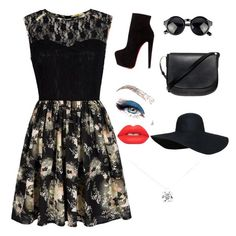 """""""Vintage!"""" by oonasmck on Polyvore featuring beauty, Mela Loves London, Christian Louboutin, Mansur Gavriel, Holy Ghost, Lime Crime, Tiffany & Co. and vintage"""