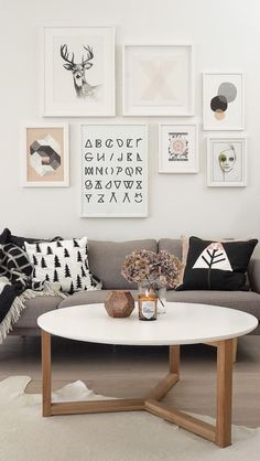 Home Decoration Ideas: Beautiful And Cozy Scandinavian Living Room Inspiration - Soft Colours, Lots Of White, Graphic Prints and Wooden Accents. Living Room Inspiration, Home Decor Inspiration, Kitchen Inspiration, Decor Ideas, Home Living Room, Living Room Decor, Nordic Living Room, Deco Design, Home And Deco