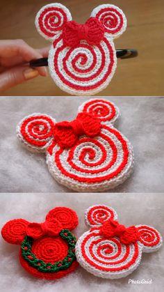 Crochet Christmas Wreath - Learn to Crochet - Crochet Kingdom Crochet Patterns For Beginners, Crochet Toys Patterns, Crochet Crafts, Crochet Projects, Knitting Patterns, Christmas Crochet Patterns, Christmas Knitting, Knitting Ideas, Crochet Hooks