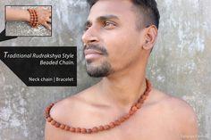 Traditional Rudraksha/Rudrakshya Style beaded chain -  multi purpose chain plus bracelet -  long beaded chain by Splurge Fashion, $10.00 USD