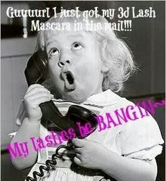 Get your lashes BANGIN with Younique's 3D Fiber Lash Mascara!  http://www.youniqueproducts.com/LucyDutton