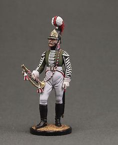 Trumpet-major of the Dragoon Regiment. Russia, 1803-06..Napoleonic War soldiers