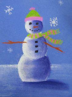 Snowmen at night Classroom Art Projects, Art Classroom, Christmas Drawing, Christmas Art, Snowmen At Night, Winter Art Projects, 4th Grade Art, Winter Painting, Chalk Pastels