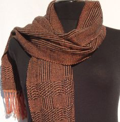 Handwoven Men / Woman Scarf  Unique by PenelopeNow on Etsy, $170.00