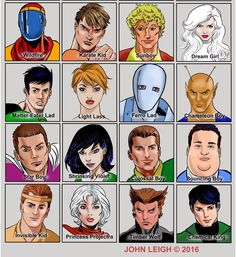Legion Roll Call, part 2. (art by John Leigh) Loving KK, Dreamy, Violet and Timber Wolf with the Cockrum hair-horns from this batch! Neat to see a leaner interpretation of Matter-Eater Lad, as well. Stay hungry!