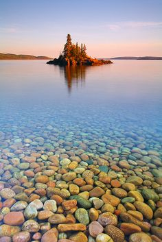Sunset Island, Lake Superior, Canada.