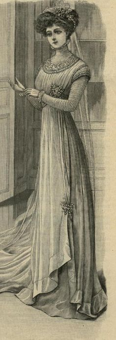 August 1908 Wedding Gown