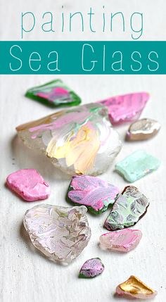 painting sea glass a fun creative canvas.