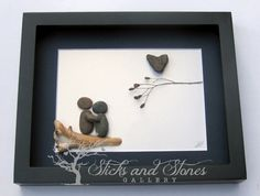 Christmas Gifts for a Couple-Couple's Gift- Personalized COUPLE'S Gift- Christmas Gifts- Love Gifts -Pebble Art -Canadian Artwork -Unique by SticksnStone on Etsy