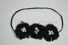 Black Baby Headband, Black and white Children Headband, Baby Girl headband, Halloween Headband, Baby photo prop, hair accessory, hair bows