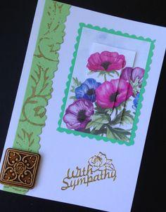 Paper tole sympathy card