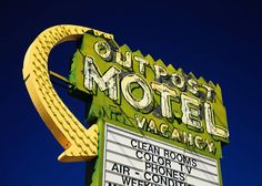 Las Vegas Outpost Motel Neon Sign