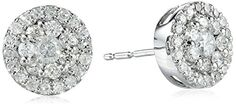 10k White Gold Round-Diamond Cluster Earrings (1/2 cttw, I-J Color, I2-I3 Clarity) Amazon Curated Collection List Price:	$1,050.00 Price:	$239.99 & FREE Shipping http://www.amazon.com/White-Round-Diamond-Cluster-Earrings-Clarity/dp/B00462QU7K/ref=sr_1_2?s=apparel&ie=UTF8&qid=1417026809&sr=1-2&pebp=1417026988128