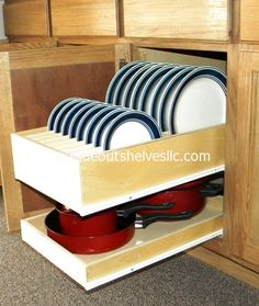 pull out dinner plate shelf by slideoutshelvesllc.com