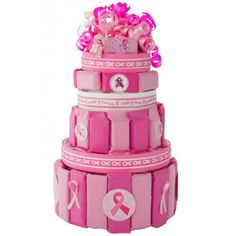 Breast Cancer Awareness Candy Cake - You Care Packages.com donates 10% of profits from each one of these cakes to the Susan G. Komen for the Cure Foundation