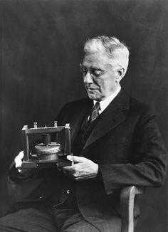 Thomas Watson, co-inventor of the telephone, holding a prototype.  He invited Meher Baba and helped fund his first trip to the United States in 1931.  This fascinates me for many reasons, not the least of which is the oddity of people worldwide now pecking out communications on alphabet-board telephones!  One of the strangest confirmations of Meher Baba's mysterious influence, to my eyes, is that now everywhere I go, I see MANY people using alphabet boards...