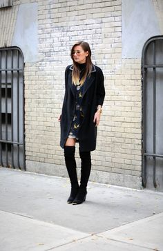 Danielle of WeWoreWhat looking way chic in the Nico boots from my fall collection. Love! XoRZ