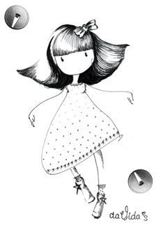 DaVida's dolls - Cute illustrations of little innocent girls Colouring Pages, Adult Coloring Pages, Innocent Girl, Kawaii Doodles, Doll Quilt, Little Doll, Illustrations, Magnolias, Digi Stamps