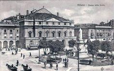 Piazza della Scala, circa 1906.