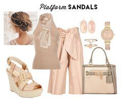 """Platform Sandals"" by lasvegasmjb ❤ liked on Polyvore featuring MSGM, Rosetta Getty, Nine West, Anne Klein, Accessorize, Kendra Scott and platforms"