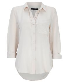 Silk blouse in natural white ✔