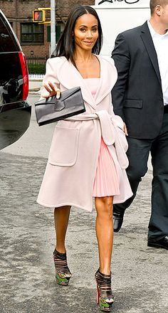Jada Pinkett Smith -- in pink -- was among the stars to check out the Vera Wang Fall 2013 show at #NYFW.