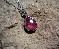 Cotton Candy Sapphire Drop Necklace