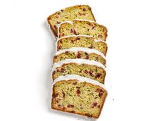 Zucchini Bread With Dried Cranberries and Vanilla Bean Glaze recipe from Food Network Kitchen via Food Network