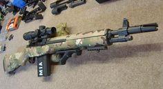 M1A-A1 Bush Rifle in multicam