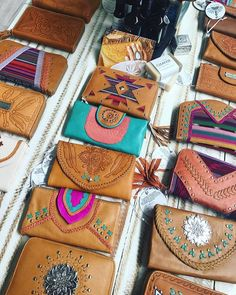 Christmas is coming! 😱Get in early so you don't miss out on your favorite styles. Our designs are all handmade and not mass produced so quantities are limited ~ www.mahiya.com.au   #giftidea #christmasgifts #bohowallets #leather #handmade #handtooled #purse #wallet #MAHIYA #xmasgifts #xmas