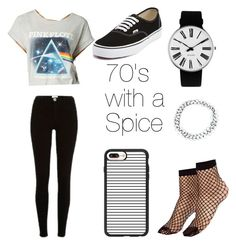 """""""70s in the 00s"""" by untitledrebellion ❤ liked on Polyvore featuring Hybrid, Vans, River Island, Casetify, Rosendahl and ASOS"""