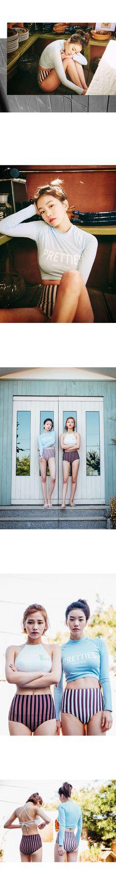 MOSSBEAN | pretties 레트로 rash guard set | summer look