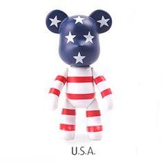 Popobe Bear Cute Character Car Vehicle Vent Clip Air Freshener - USA Figure…