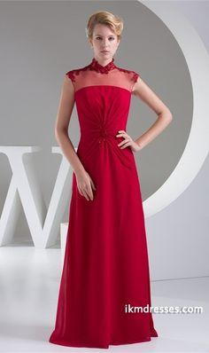 http://www.ikmdresses.com/Red-Sheath-Column-Sleeveless-High-Neck-Mother-of-the-Bride-Dress-p20399