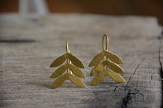 Gold earrings, gold wings, bridal jewelry, vintage earrings, nature jewelry, lightweight, delicate earrings, gift, holiday gift, efrat makov by EfratMakovJewelry on Etsy