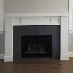 WindsorONE Trim Boards are used to create this Craftsman Style mantel. Credit: Streamline Builders Read more about this project here. Trim Board, Country Fireplace, Candles In Fireplace, Moldings And Trim, Fireplace Remodel, Craftsman Style, Great Rooms, Family Room, Living Spaces