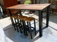 table mange debout BODEGA métal & bois