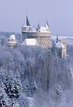castle of ice and snow Cinderella Castle, Snow And Ice, Our Country, Winter Snow, Winter Wonderland, Paris Skyline, Beautiful Places, Scenery, Old Things
